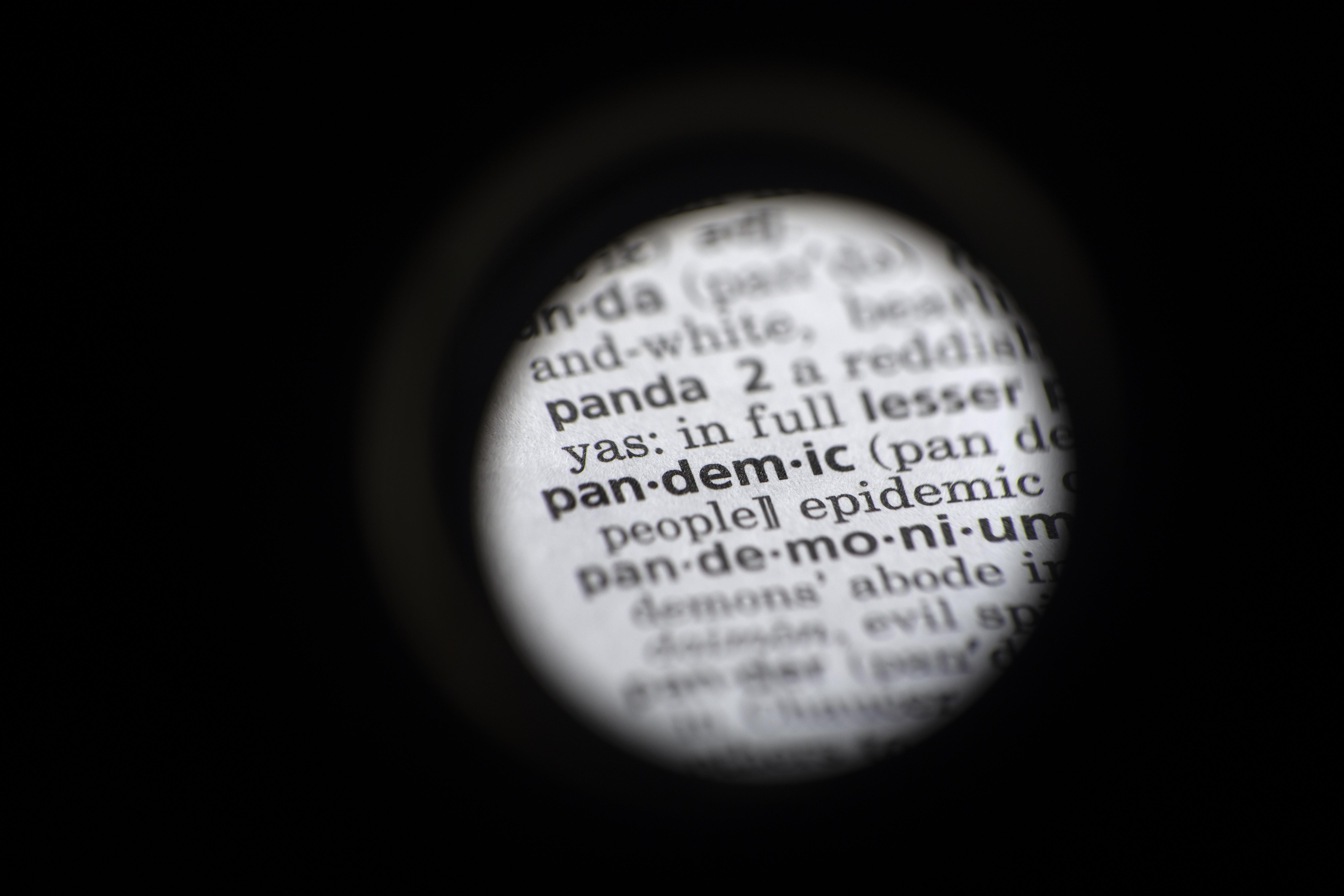 'Pandemia' é eleita a palavra do ano 2020 pelo dicionário Merriam-Webster